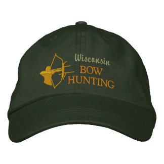 Bow Hunting, State by State Embroidered Baseball Cap