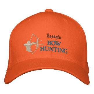 Bow Hunting, State by State Embroidered Baseball Hat