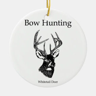 Bow Hunting (White Tail Buck) Ceramic Ornament