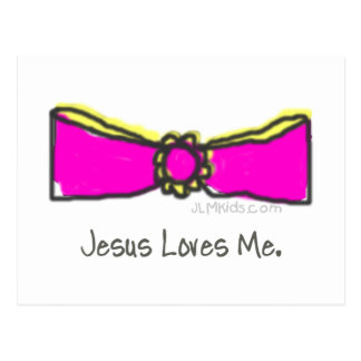 Bow - Jesus Loves Me Postcard