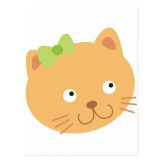 Bow Kitty Cat Postcard