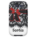 Bow,lace,jewel Initial,name,logo Samsung Android Samsung Galaxy S3 Cases