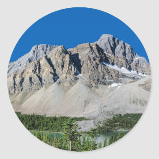 Bow Lake Icefields Parkway Alberta Canada Round Stickers