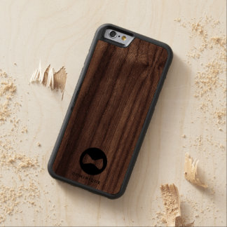 Bow Logo Personalized Wood iPhone 6 Cases Carved® Walnut iPhone 6 Bumper