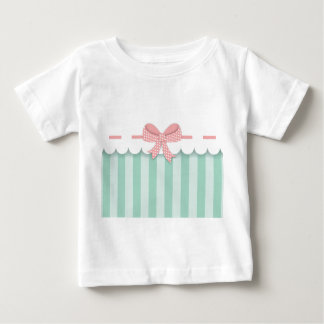 Bow Mint and Rosa Baby T-Shirt