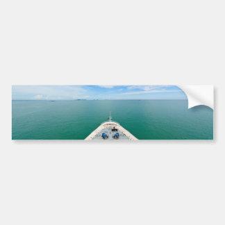 Bow of a cruise ship bumper sticker