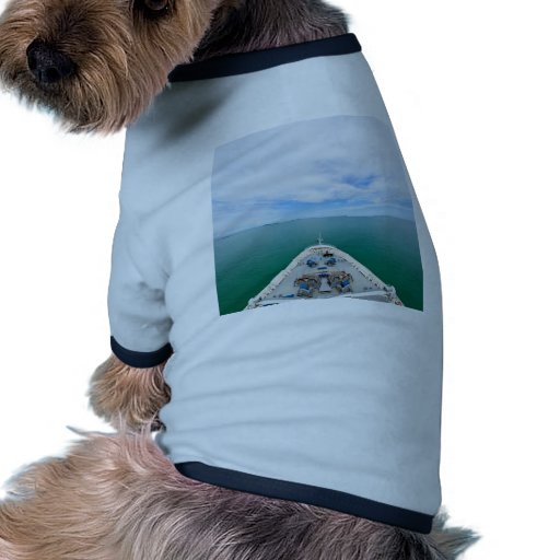 Bow of a cruise ship dog tee