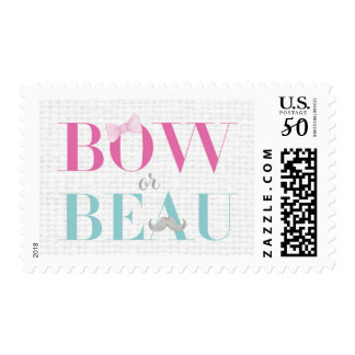 Gender Reveal - Bow or Beau Postage