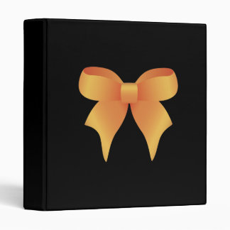 Bow Orange 3 Ring Binder
