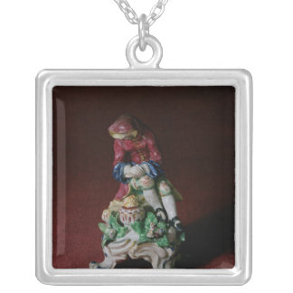Bow porcelain figure of Winter, c.1760-63 Silver Plated Necklace