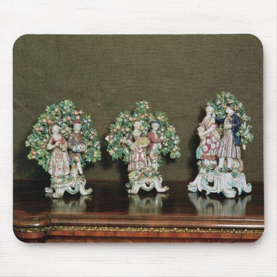 Bow porcelain figures, 1761 mouse pad