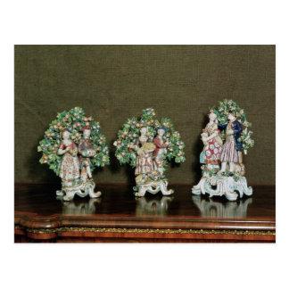 Bow porcelain figures, 1761 postcard