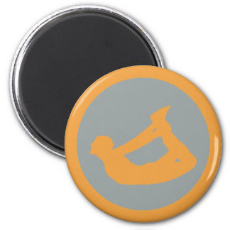 Bow Pose Yoga 2 Inch Round Magnet