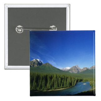 Bow River near Banff National Park in Alberta Pinback Button