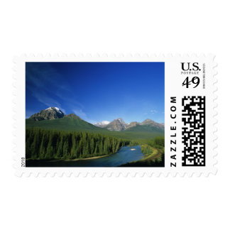 Bow River near Banff National Park in Alberta Postage
