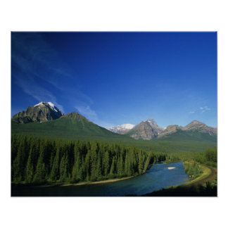 Bow River near Banff National Park in Alberta Poster