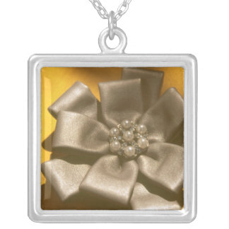 Bow Silver Plated Necklace