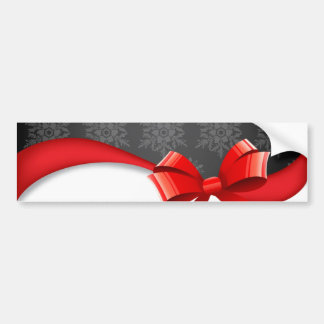 bow&Snowflakes Bumper Stickers