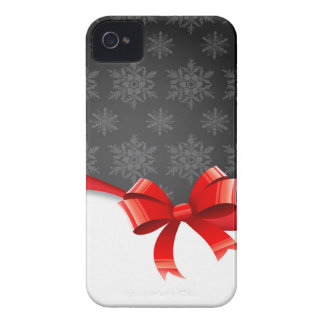 bow&Snowflakes iPhone 4 Protectores