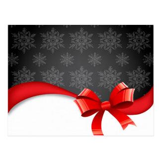 bow&Snowflakes Tarjeta Postal