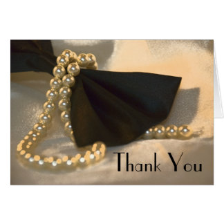 Bow Tie and Pearls Bridesmaid Thank You Card