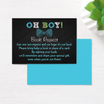 Bow Tie Baby Shower Book Request Cards