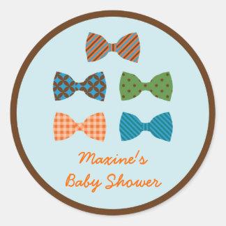 Bow Tie Baby Shower Favor Sticker