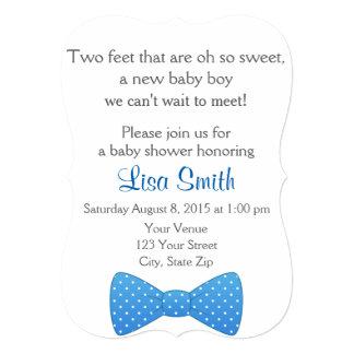 Bow Tie Baby Shower Invitation