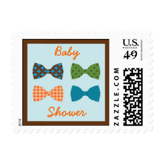 Bow Tie Baby Shower Postage Stamp
