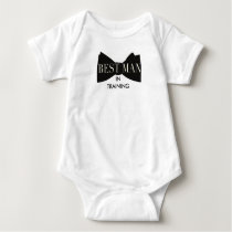 Bow Tie Best Man In Training | Baby Baby Bodysuit