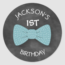 Bow Tie Birthday Sticker- Special Bday Labels