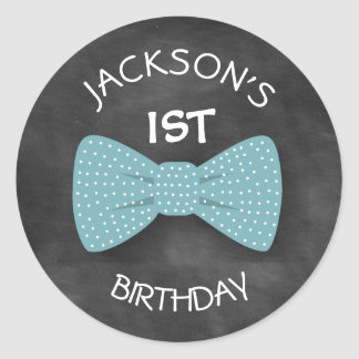 Bow Tie Birthday Sticker- Special Bday Labels