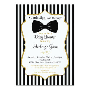 Bow Tie Baby Shower Invitations Announcements Zazzle