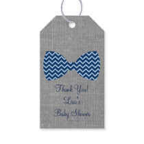 Bow Tie Chevron Party Favor Tags