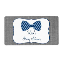 Bow Tie Chevron Water Bottle Labels