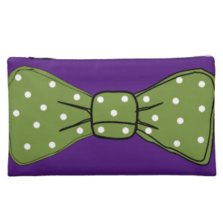 bow tie cute pretty smile girly chic cosmetic bag