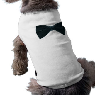 bow tie-dog shirt