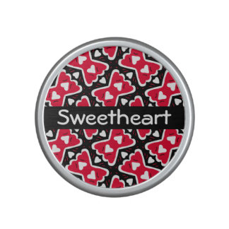 Bow-tie Frilly Hearts Red-White-Black Sweetheart Speaker