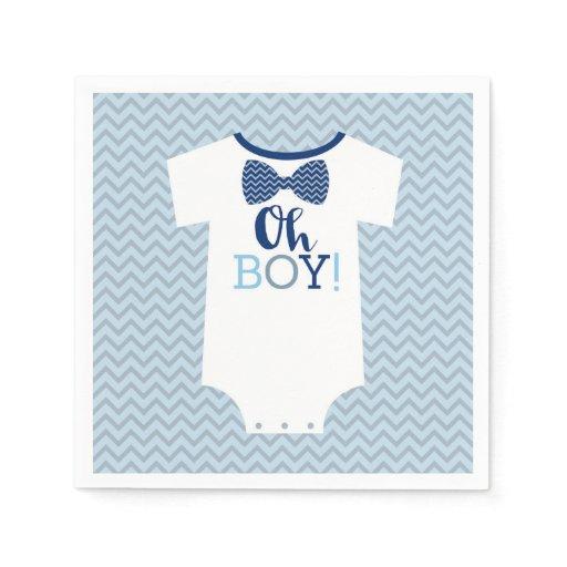 Bow Tie Little Man Baby Shower Napkin