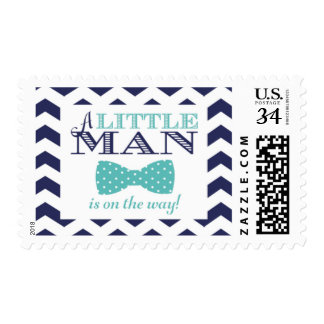 "Bow Tie ""Little Man"" Navy Stamp"