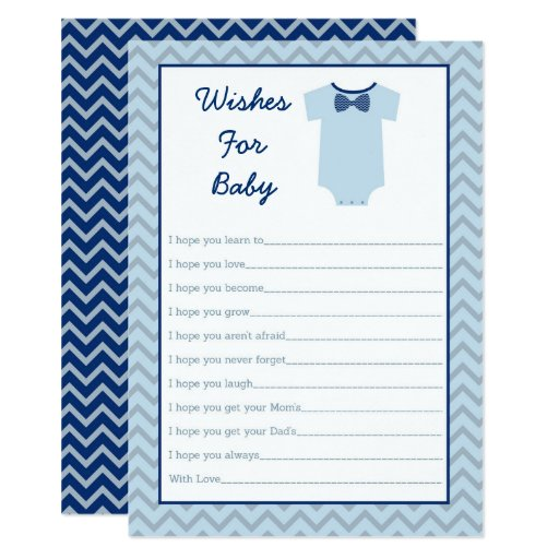 Bow Tie Little Man Wishes For Baby Card