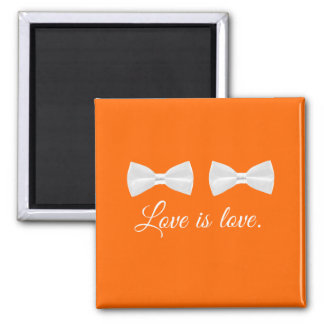 BOW TIE LOVE -.png 2 Inch Square Magnet
