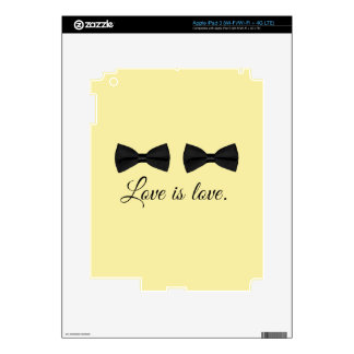 BOW TIE LOVE -.png Skins For iPad 3