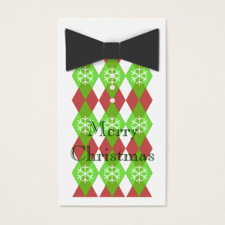 Bow Tie Merry Christmas Cards