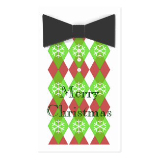 Bow Tie Merry Christmas Cards Business Card Templates