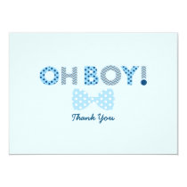 Bow Tie Oh Boy Thank You Cards