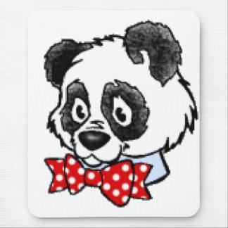 Bow Tie Panda Mouse Pad