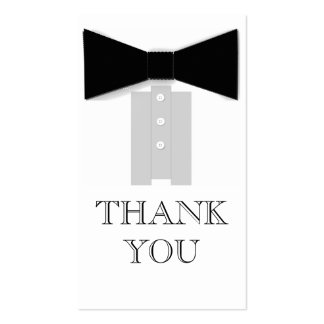 Bow Tie Thank You Cards Double-Sided Standard Business Cards (Pack Of 100)