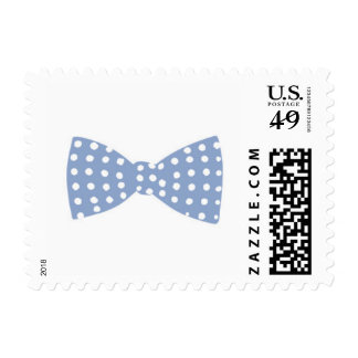 Bow Tie White and Blue // Baby Shower Stamp