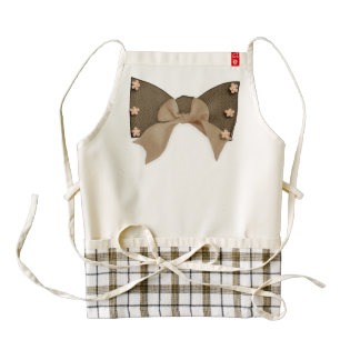 Bow Tie Zazzle Heart Apron with Flowers & Bows
